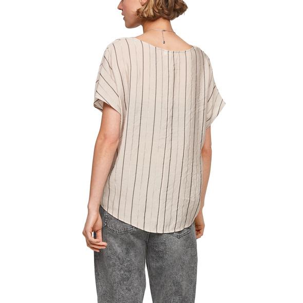 Gestreifte Bluse mit Knoten - Bluse