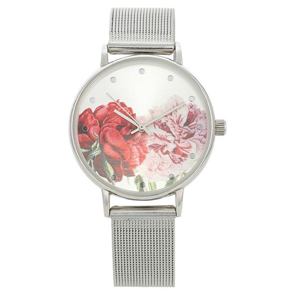 Uhr - Metallic Flowers