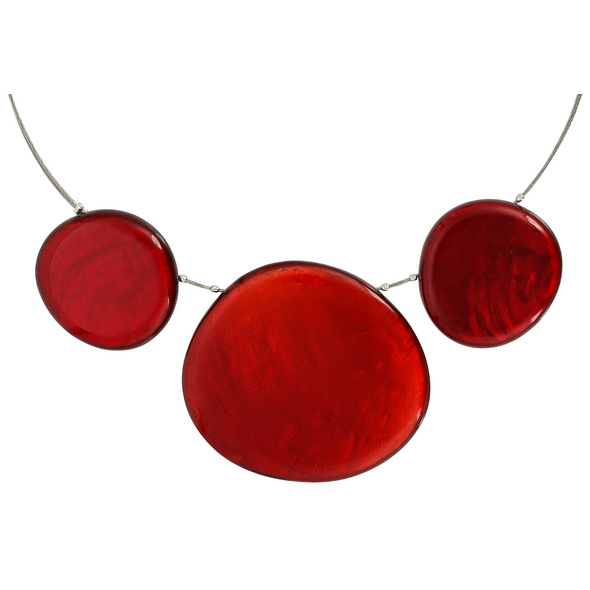 Kette - Red Pebble