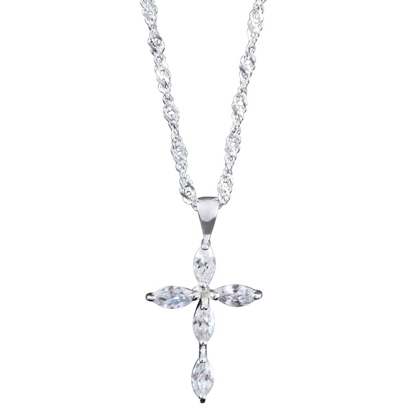 Kette - Cross of Silver