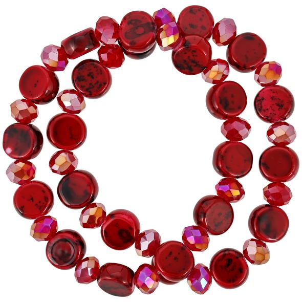 Armband-Set - Red Glass