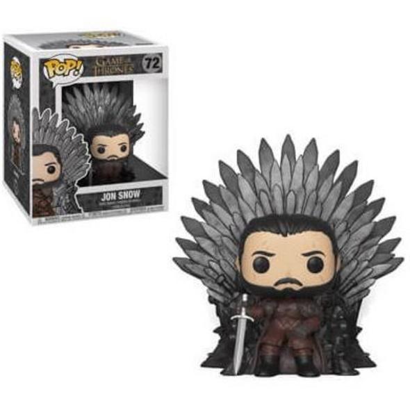 Game of Thrones - POP! Vinyl-Figur Jon Schnee auf dem Eisernen Thron (Super Size)