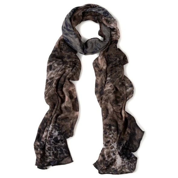 Schal, Animalmuster, luftig-leicht