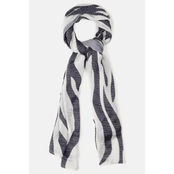 Ulla Popken Schal, Zebra-Design, Glanz-Effekt, selection - Große Größen