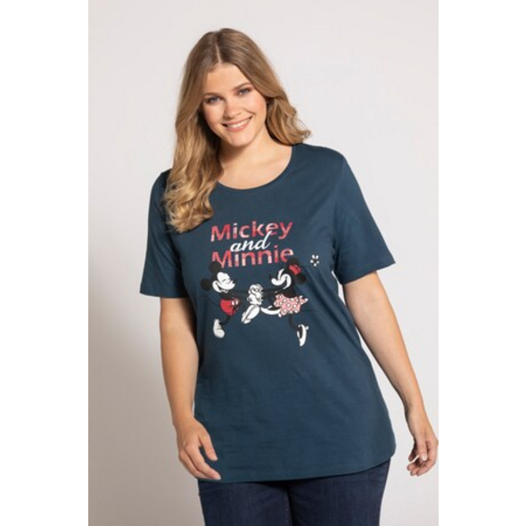 Ulla Popken T-Shirt, Mickey & Minnie, Classic, reine Baumwolle - Große Größen