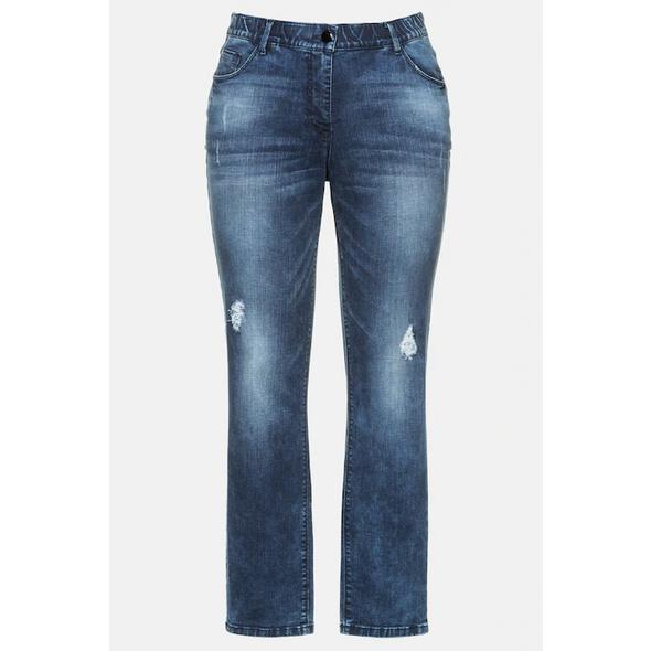 Ulla Popken Jeans Sammy, 5-Pocket, Komfortbund, konische Passform - Große Größen