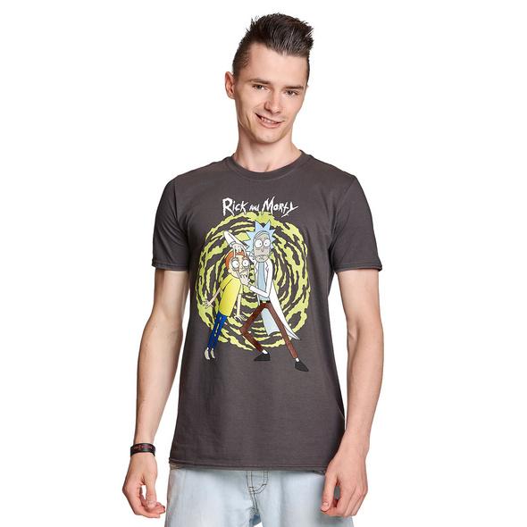 Rick and Morty - Spiral T-Shirt grau