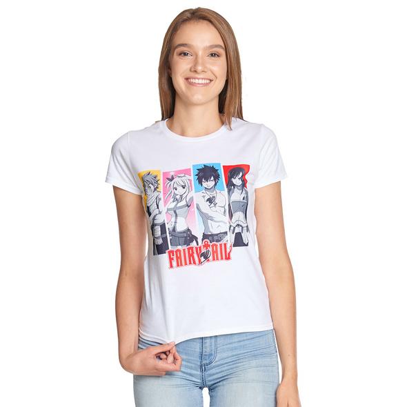 Fairy Tail - Team T-Shirt Damen weiß