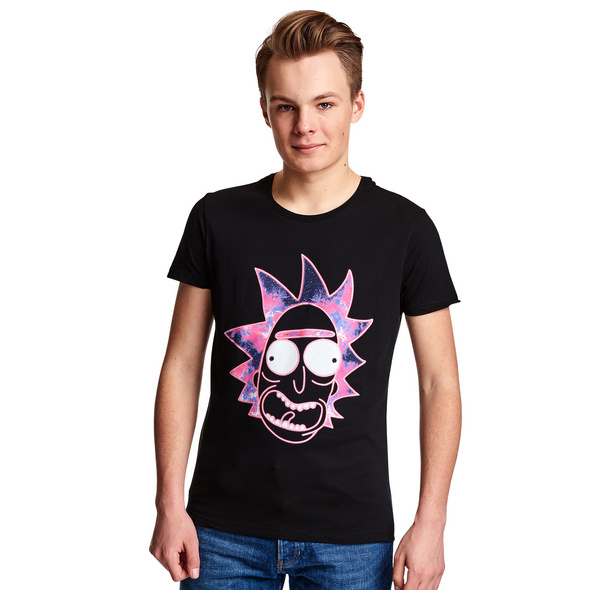 Rick and Morty - Neon Rick Glow in the Dark T-Shirt schwarz