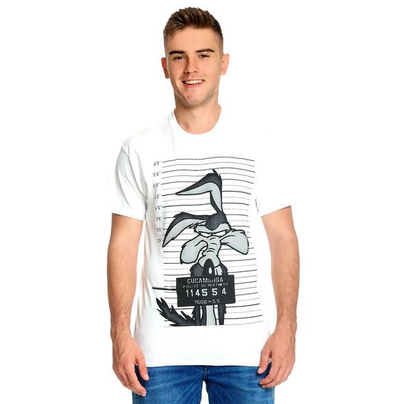 Looney Tunes - Wile E. Coyote Mugshot T-Shirt weiß