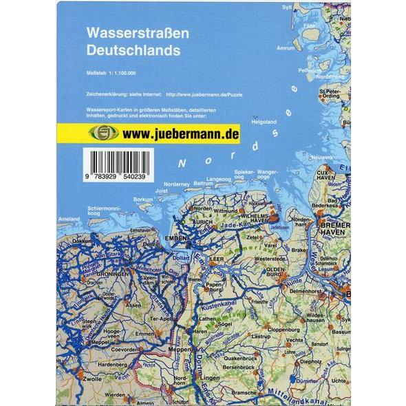 Wasserstraßen Deutschland 1 : 1 100 000