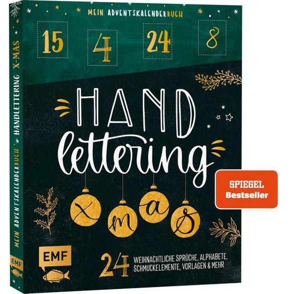 Mein Adventskalender-Buch: Handlettering X-Mas!