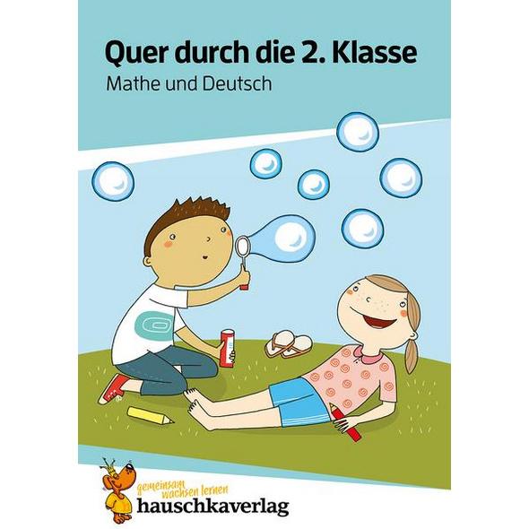 Quer durch die 2. Klasse, Mathe und Deutsch - A5-Übungsblock