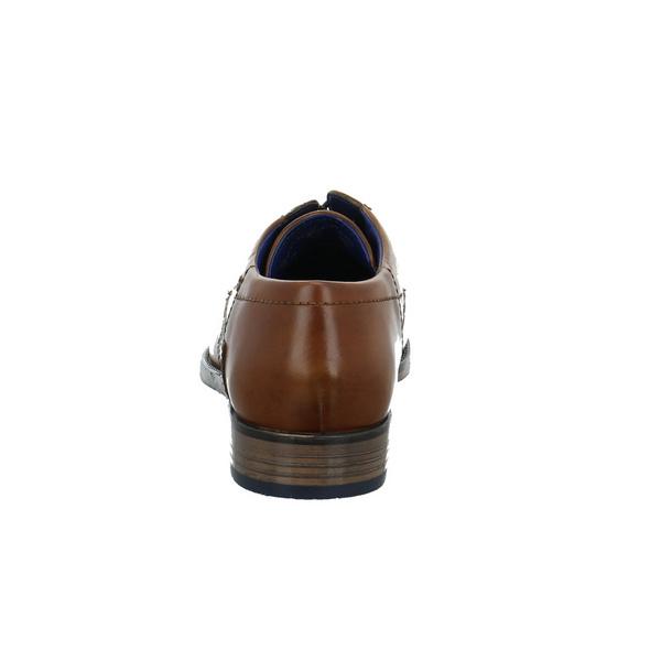 Bugatti Herren 311164173500 Brauner Glattleder Schnürschuh