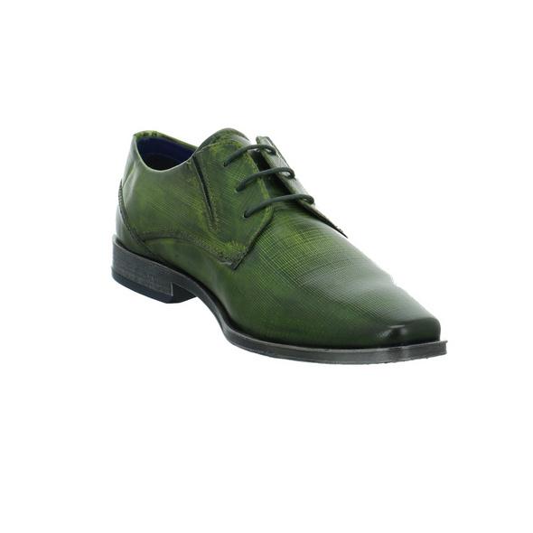 Bugatti Herren Morino Comfort Grüne Glattleder Schnürschuhe