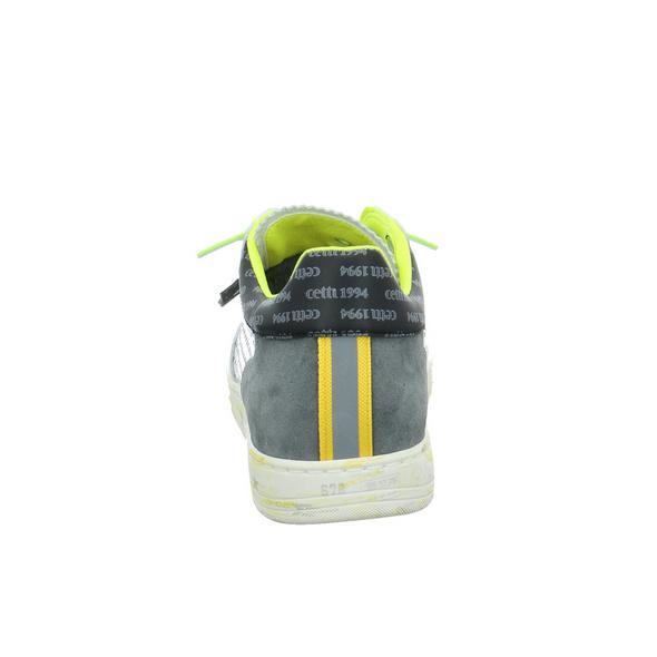 Cetti Herren C-1181 SCHWEET WHITE TITANIO Weißer Glattleder Sneaker