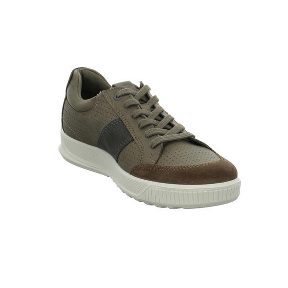 Ecco Herren Byway Braune Glattleder Sneaker