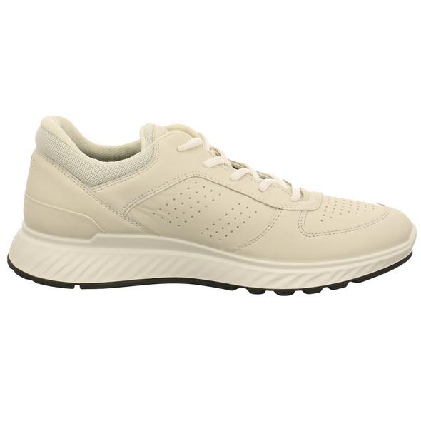 Ecco Herren Exostride M Weißer Leder/Textil Sneaker