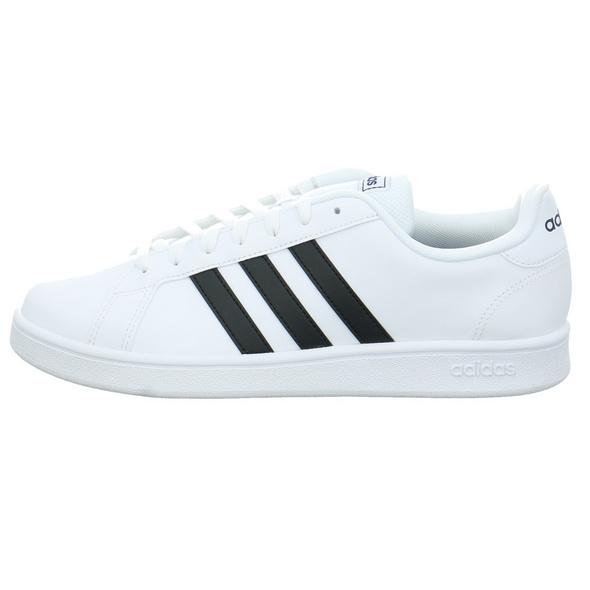 Adidas Herren Grand Court Base Weißer Synthetik Sneaker