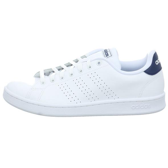 Adidas Herren Advantage Weißer Leder/Synthetik Sneaker