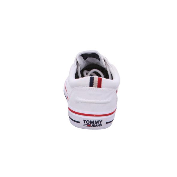 Tommy Hilfiger Herren EM0EM Weiße Leinen Sneaker