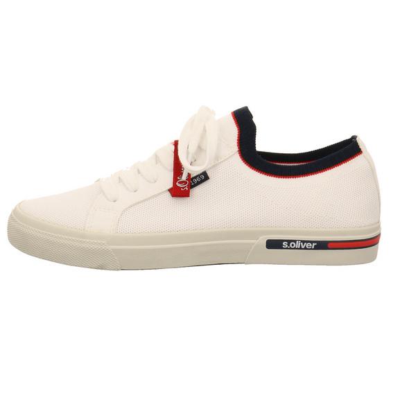 S.Oliver Herren 13620-100 Weißer Textil Sneaker