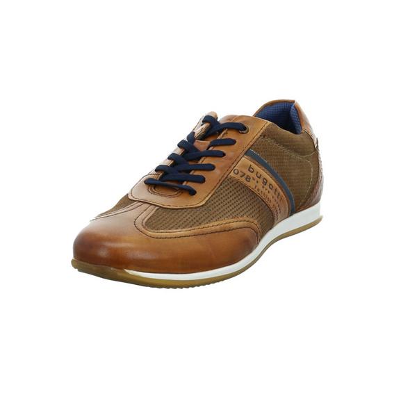 Bugatti Herren 311-45010-4114-6353 Brauner Glatt-/Veloursleder Sneaker