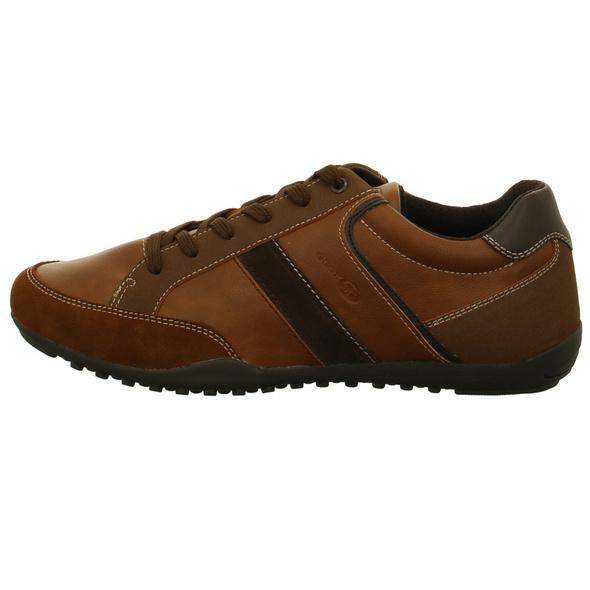 Geox Herren Ravex Braune Leder/Textil Sneaker