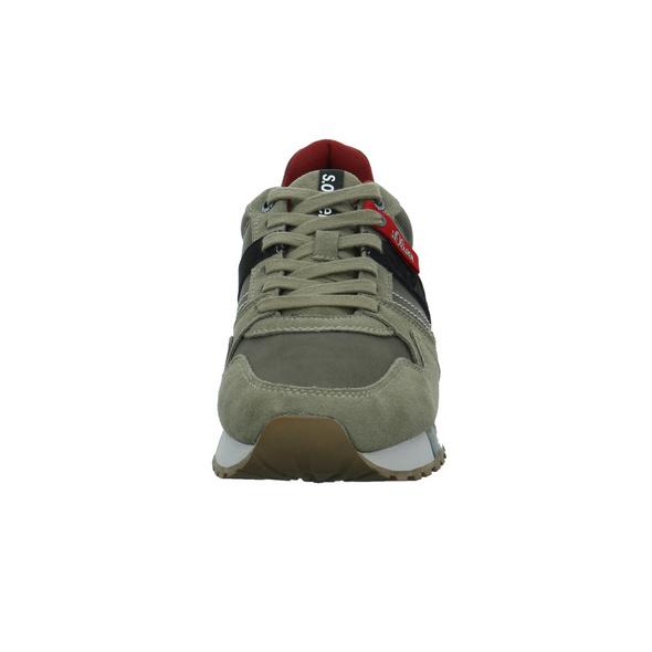 S.Oliver Herren 13610/720 Grüner Leder/Synthetik Sneaker