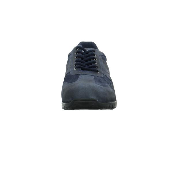 Camel active Herren Sharptown Blauer Glatt-/Veloursleder Sneaker
