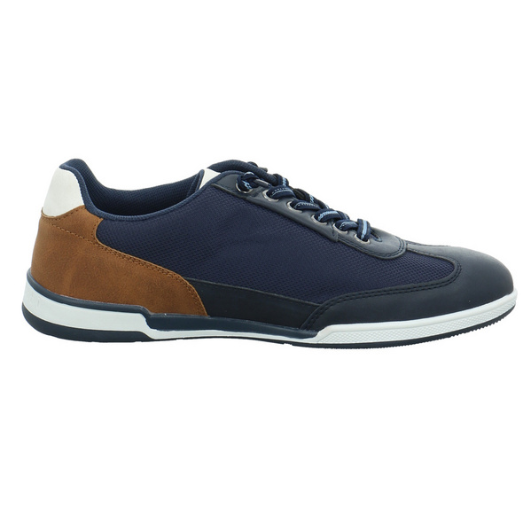 Bugatti Herren Solar Exko Blaue LTextil/Leder Sneaker