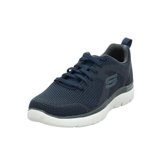 Skechers Herren Summits Brisbane Blauer Textil Sneaker