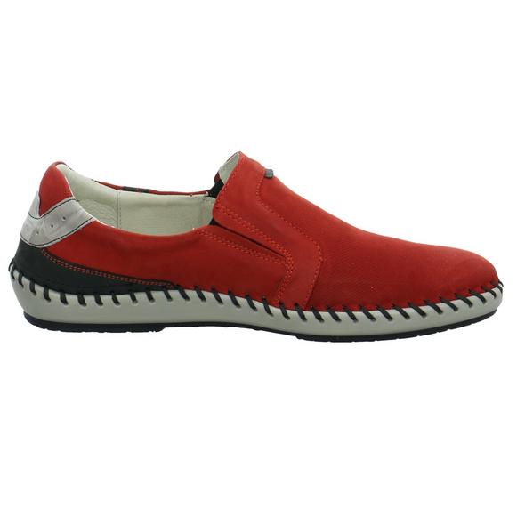 Krisbut Herren 5334-2 Rote Nubukleder Slipper