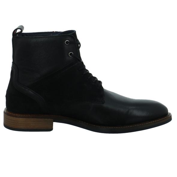 Tommy Hilfiger Herren Elevated Tall Leather Schwarzer Leder Boot