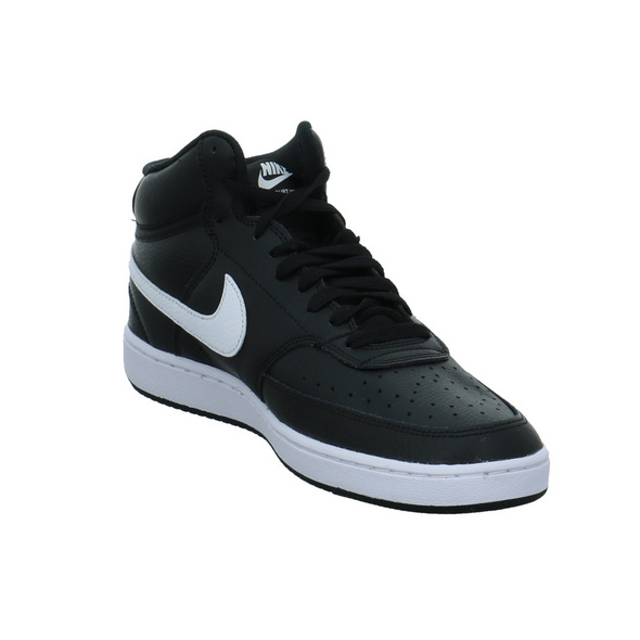 Nike Herren Court Vision Mid Schwarzer Leder/Synthetik Sneaker