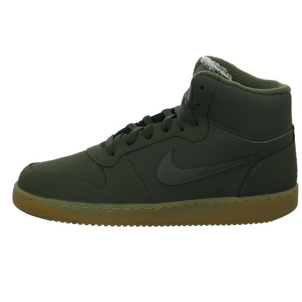 Nike Herren Ebernon Mid SE Grüne Leder/Textil Sneaker