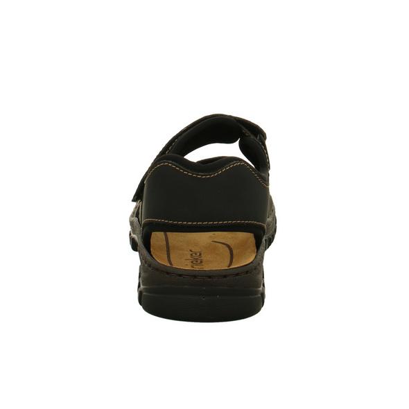 Rieker Herren 25051-01 Schwarze Synthetik Sandale
