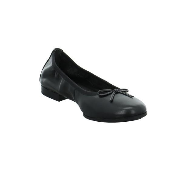 Tamaris Damen 22116-001 Schwarze Glattleder Ballerina