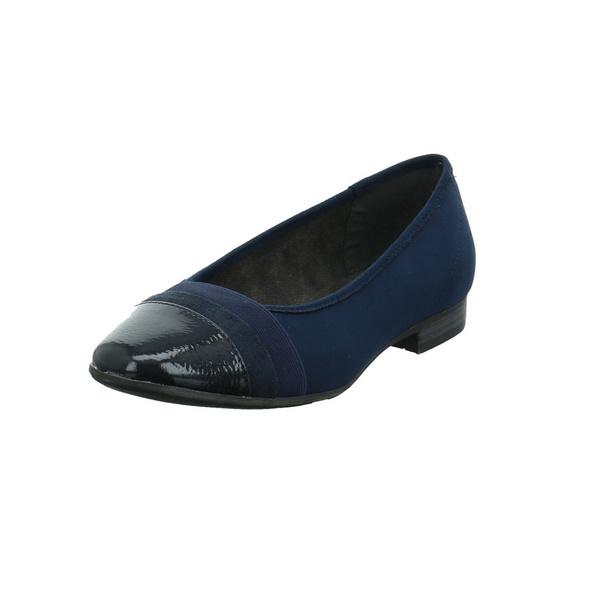 Jana Damen 22165-805 Blauer Synthetik/Textil Ballerina