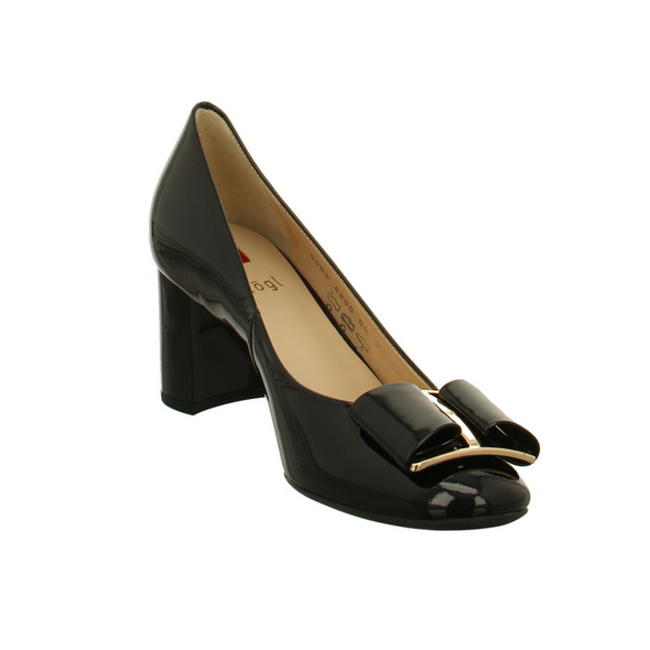 Högl Damen 5-105084-0100 Schwarze Lackleder Pumps