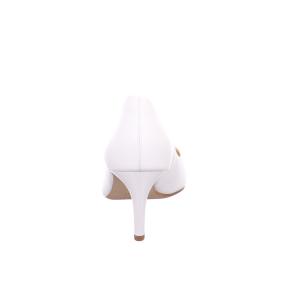 Högl Damen 5-106173/0300 Weiße Perlatoleder Pumps