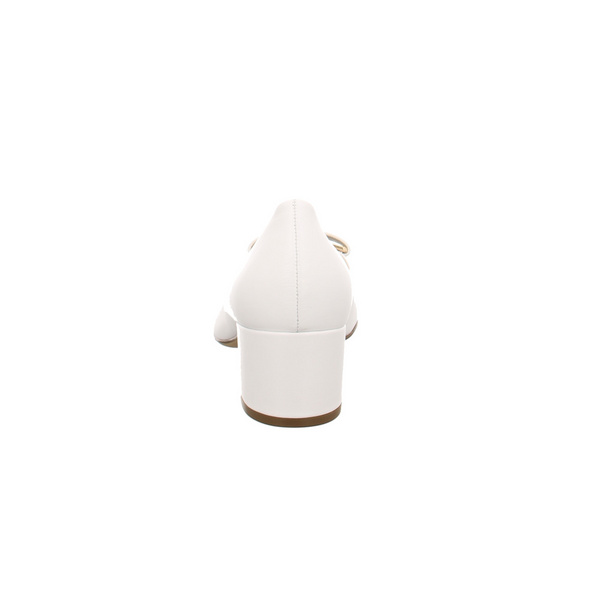 Högl Damen 5-104080-0200 Weiße Glattleder Pumps