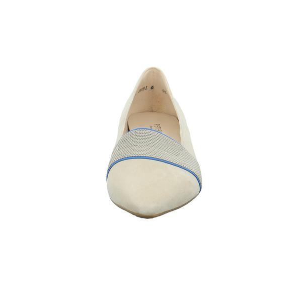 Peter Kaiser Damen Lagos-A Beigefarbener Leder/Textil Pumps