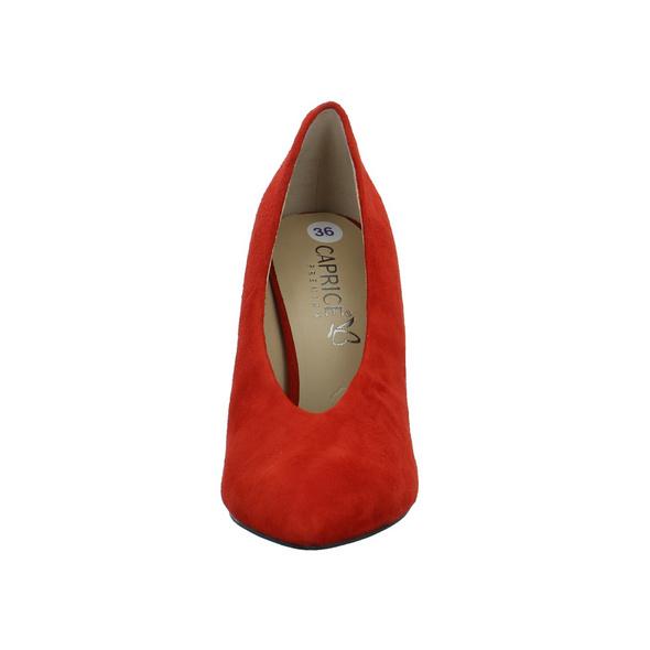 Caprice Damen 22403-530 Roter Veloursleder Pumps