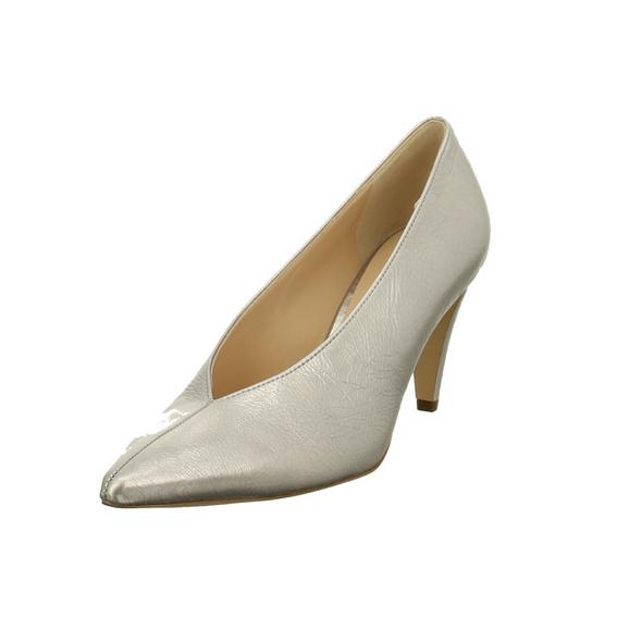 Högl Damen 5-107711-7300 Silberne Perlatoleder Pumps