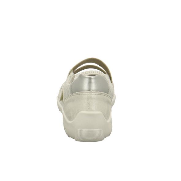 Remonte Damen R3506-80 Weißer Synthetik/Textil Ballerina mit Glitzer