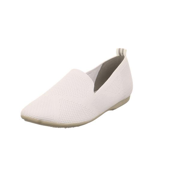 Marco Tozzo Damen 24202-100 Weißer Textil Ballerina