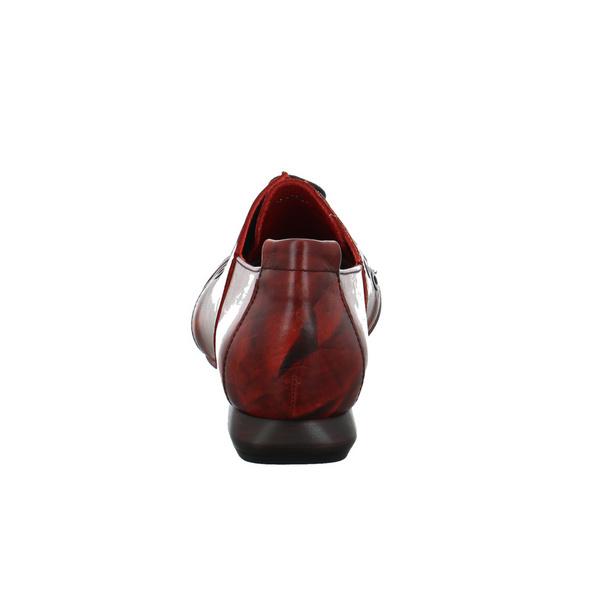 Simen Damen 3520A Bordeauxroter Glattleder Schnürschuh