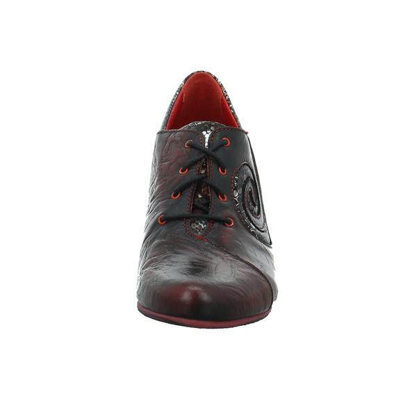 Simen Damen 3082A-WEINROT Roter Glattleder Schnürschuh