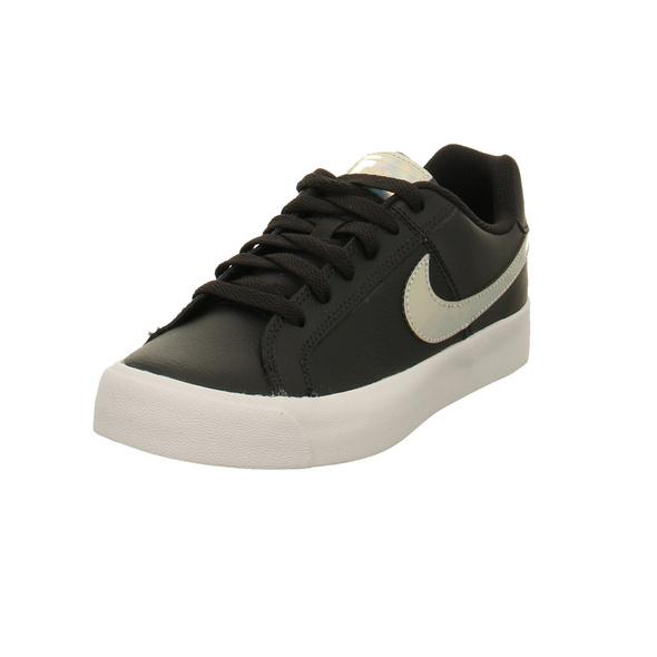 Nike Damen WMNS Court Royale AC Schwarze Glattleder Sneaker